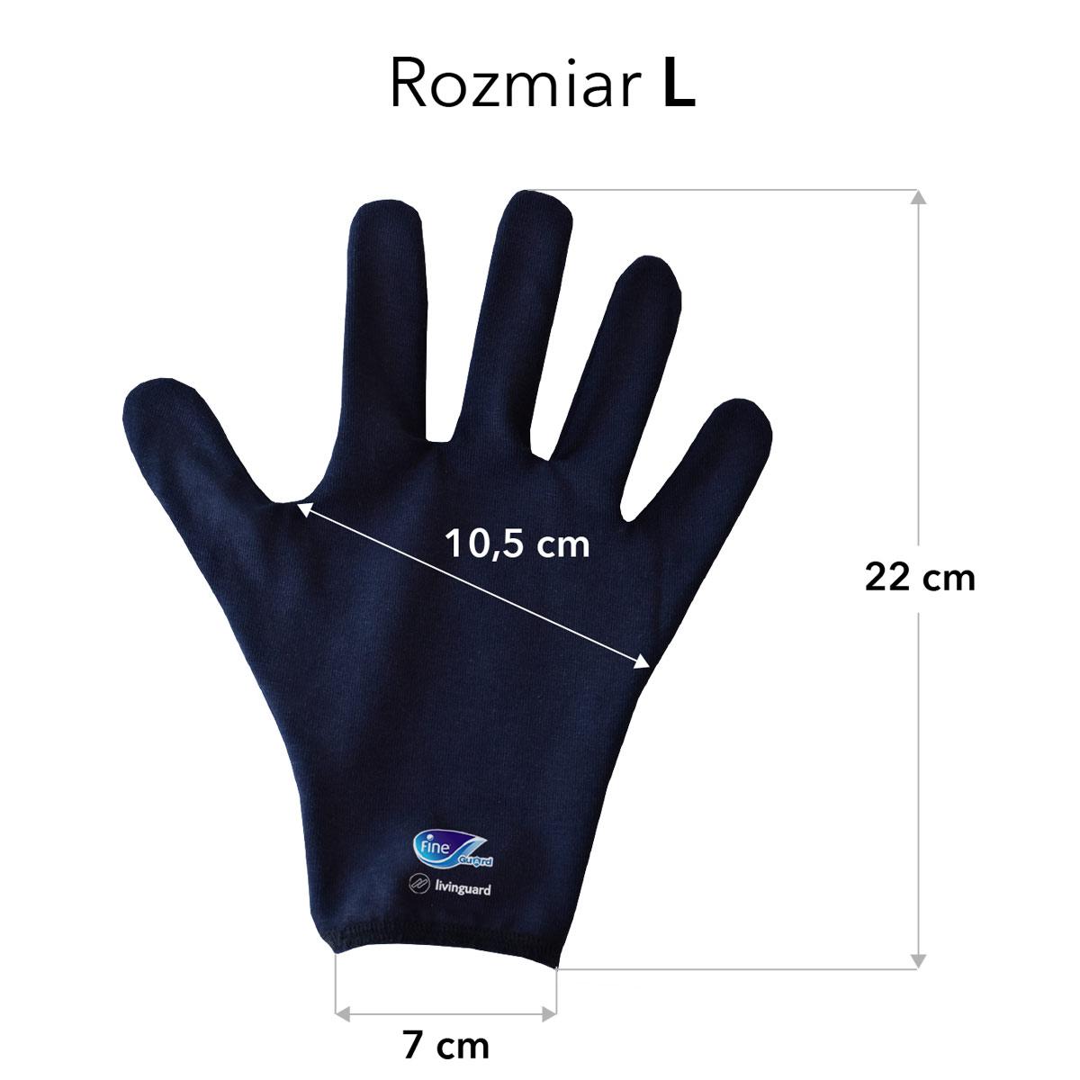 Rozmiary rękawiczek Fine Guard rozmiar L